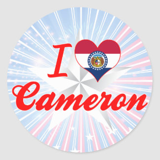 I Love Cameron Missouri Round Stickers