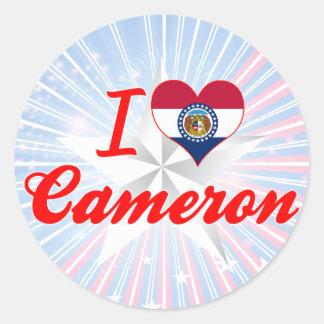 I Love Cameron, Missouri Stickers