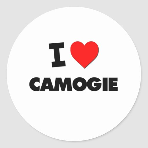 I Love Camogie Stickers