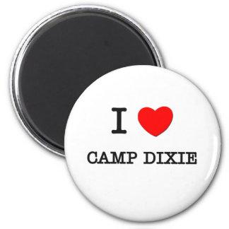 I Love CAMP DIXIE Alabama 6 Cm Round Magnet