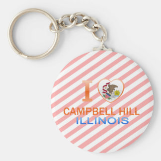 I Love Campbell Hill, IL Keychains
