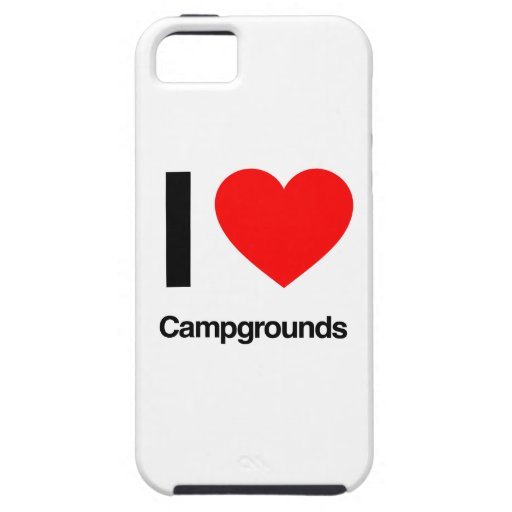 i love campgrounds iPhone 5/5S covers
