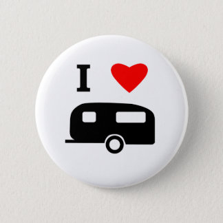 I Love Camping 6 Cm Round Badge