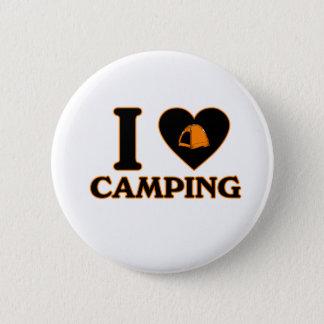 I Love Camping 6 Cm Round Badge
