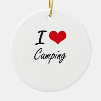 I love Camping Artistic Design Christmas Ornament