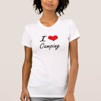 I love Camping Artistic Design Tee Shirt