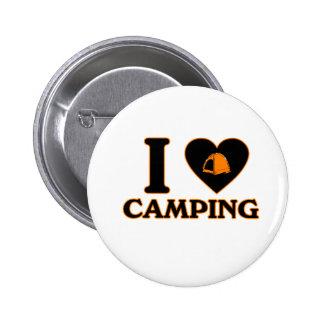 I Love Camping Pin