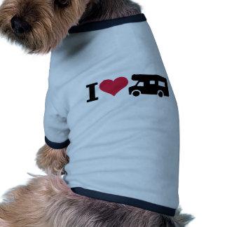 I love camping - camper pet shirt
