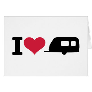 I love camping - caravan greeting card
