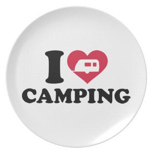I love camping caravan trailer dinner plates