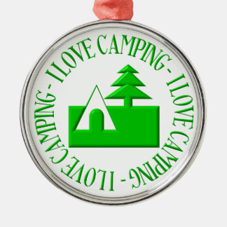 I love camping christmas ornament