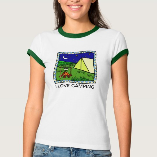 I LOVE CAMPING  DESIGN  T-SHIRT