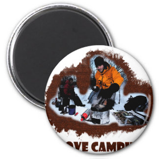 I Love Camping Frozen Toes Fridge Magnets