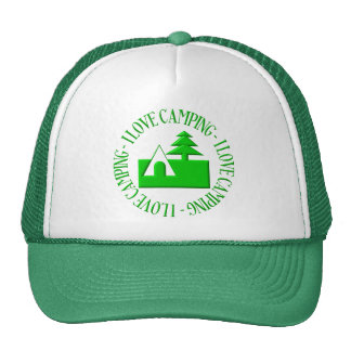 I love camping trucker hats