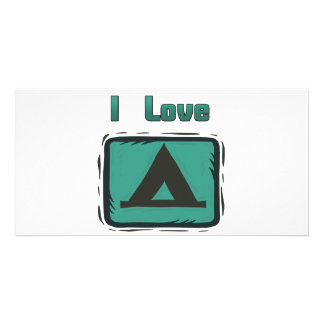 I Love Camping Personalized Photo Card