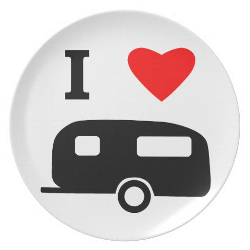 I Love Camping Party Plate