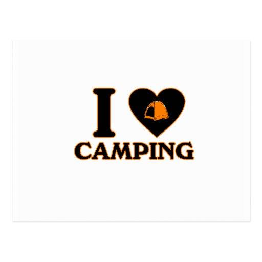I Love Camping Postcard