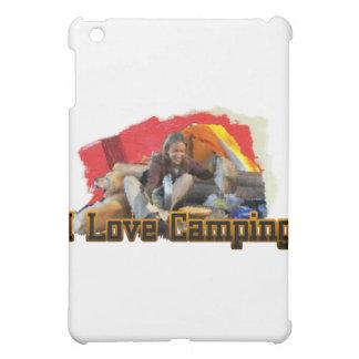 I Love Camping Tent Living iPad Mini Cover