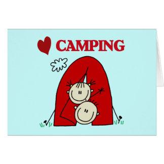 I Love Camping Tshirts and Gifts Card