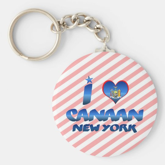 I love Canaan, New York Basic Round Button Key Ring