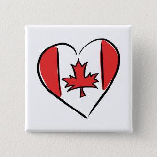 I Love Canada 15 Cm Square Badge
