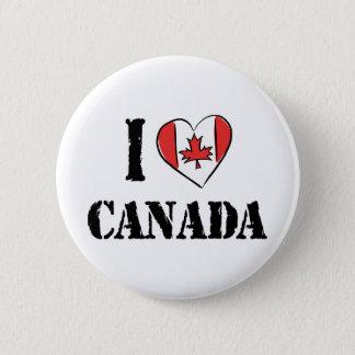 I Love Canada 6 Cm Round Badge