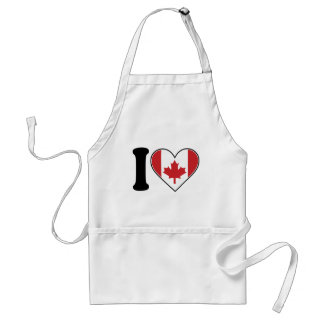 I Love Canada Adult Apron