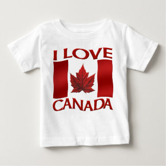 I Love Canada Baby Shirt Canada Baby Souvenirs