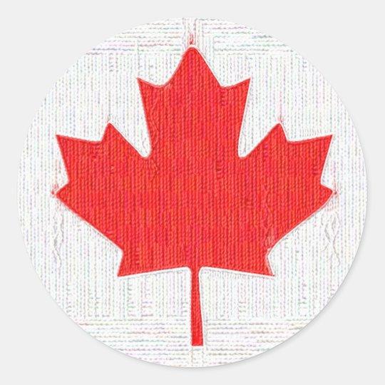 I love Canada! Canadian Flag Stitch Look Design
