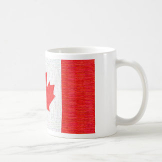 I love Canada! Canadian Flag Stitch Look Design Coffee Mugs