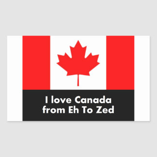 I love Canada from Eh to Zed Rectangular Sticker