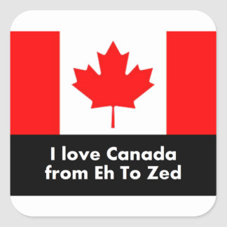 I love Canada from Eh to Zed Square Sticker