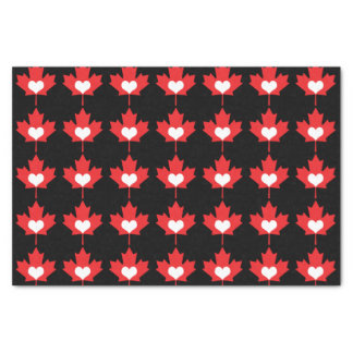 I Love Canada Heart and Maple Leaf Tissue Paper
