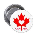 I Love Canada ~ July 1st 6 Cm Round Badge