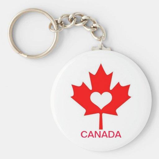 I Love Canada ~ July 1st Keychains