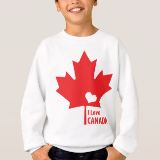 I love Canada Maple Leaf Sweatshirt