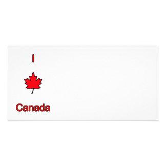 I Love Canada Photo Card Template