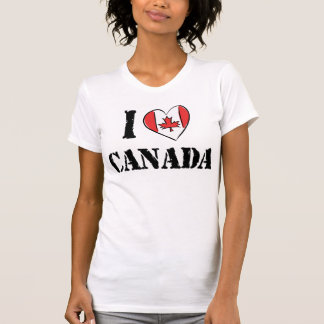 I Love Canada T Shirt Women's