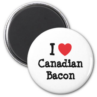 I love Canadian Bacon heart T-Shirt 6 Cm Round Magnet