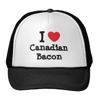 I love Canadian Bacon heart T-Shirt Mesh Hats
