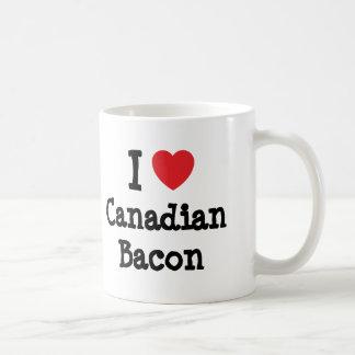 I love Canadian Bacon heart T-Shirt Coffee Mug