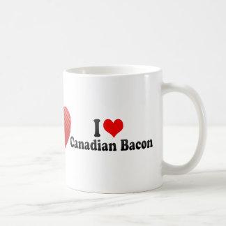 I Love Canadian Bacon Coffee Mugs