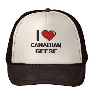 I love Canadian Geese Digital Design Cap