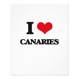 I love Canaries 11.5 Cm X 14 Cm Flyer