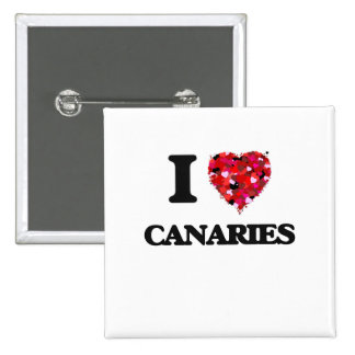 I love Canaries 15 Cm Square Badge