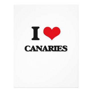 I love Canaries 21.5 Cm X 28 Cm Flyer