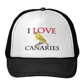 I Love Canaries Cap