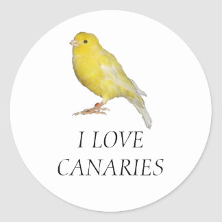 I LOVE CANARIES Stickers