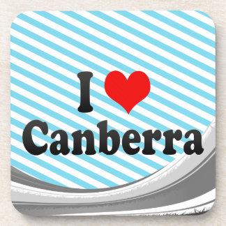 I Love Canberra Australia Drink Coaster
