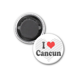 I Love Cancun, Mexico 3 Cm Round Magnet